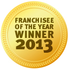 Award Franchisee of the year 2013 v2