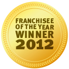 Award Franchisee of the year 2012