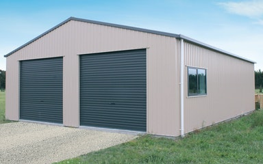 Double Garages Built For Life Totalspan New Zealand
